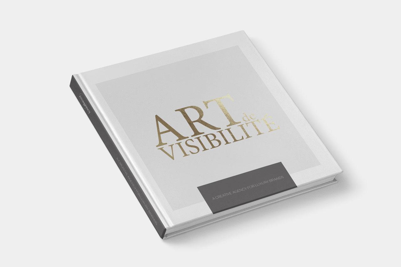 imagency luxus kreatív ügynökség lifestyle print grafika graphic design könyv prospektus nyomtatott média Art de Visibilité Brochure